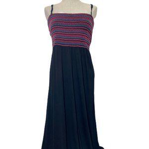 Long Tall Sally Black/Pink/Blue Maxi Dress XL